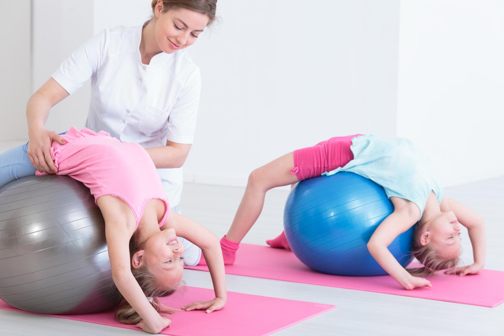 Fisioterapia de espalda en niños
